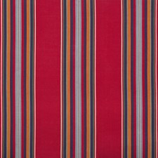 Red/Navy Stripes Decorator Fabric by Brunschwig & Fils