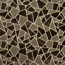 Mocha Geometric Decorator Fabric by Brunschwig & Fils