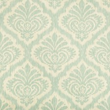 Aqua Damask Decorator Fabric by Brunschwig & Fils