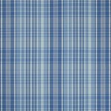 Blue Plaid Decorator Fabric by Brunschwig & Fils
