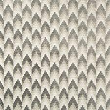 Grey Geometric Decorator Fabric by Brunschwig & Fils