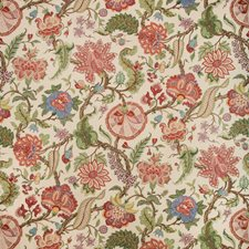 Red Multi Botanical Decorator Fabric by Brunschwig & Fils