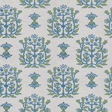 Seaglass Leaves Decorator Fabric by Stroheim