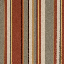Tangerine Stripes Decorator Fabric by S. Harris