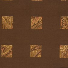 Umber Geometric Decorator Fabric by S. Harris