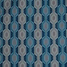 River Geometric Decorator Fabric by S. Harris
