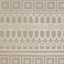 Silver Grey Geometric Decorator Fabric by S. Harris
