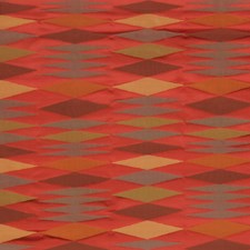 Ribbon Red Geometric Decorator Fabric by S. Harris