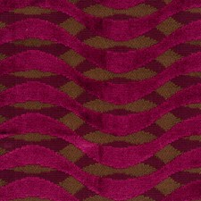 Boysenberry Geometric Decorator Fabric by S. Harris