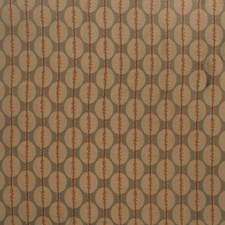Persimmon Geometric Decorator Fabric by S. Harris