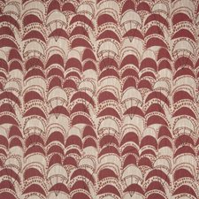 Poppy Geometric Decorator Fabric by S. Harris
