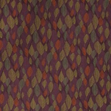 Citrus Plum Leaves Decorator Fabric by S. Harris