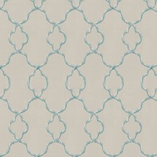 Ivory Ocean Embroidery Decorator Fabric by Trend