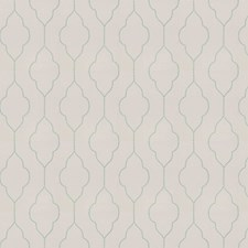 Aqua Ivory Embroidery Decorator Fabric by Trend