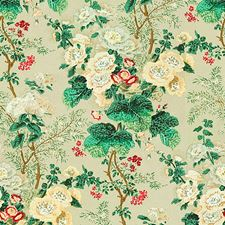 Celadon Botanical Decorator Fabric by Lee Jofa