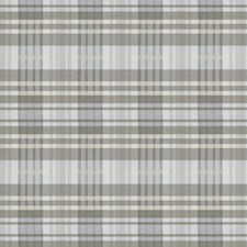 Grey Check Decorator Fabric by S. Harris