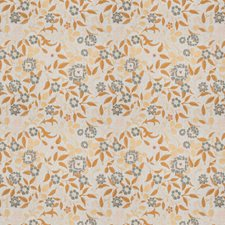 Turmeric Embroidery Decorator Fabric by Vervain