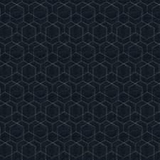 Indigo Geometric Decorator Fabric by Fabricut