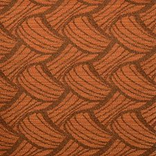 Terracotta Abstract Decorator Fabric by Duralee