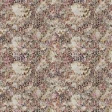 Berry Geometric Decorator Fabric by S. Harris