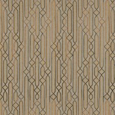 Copper Embroidery Decorator Fabric by S. Harris