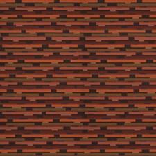 Beetroot Geometric Decorator Fabric by S. Harris