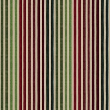 Cranberry Jade Stripes Decorator Fabric by Vervain