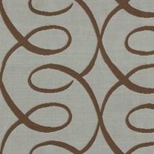 Blue/Brown Lattice Decorator Fabric by Kravet
