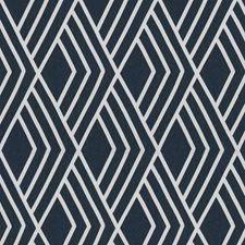 Navy Embroidery Decorator Fabric by Fabricut