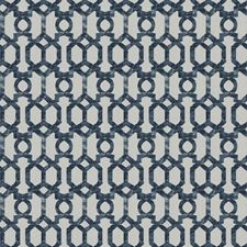 Navy Lattice Decorator Fabric by Trend