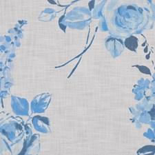 Lulworth Blue Decorator Fabric by RM Coco