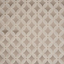 Grey Medallion Decorator Fabric by Greenhouse