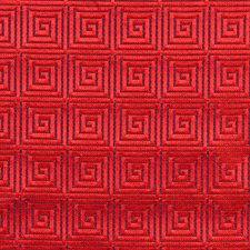 Coca Cola Red On Deep Sky Decorator Fabric by Scalamandre