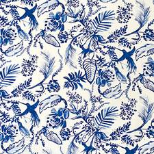 Dazzling Blue Decorator Fabric by Scalamandre
