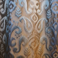 Blue/Brown/Green Transitional Decorator Fabric by JF