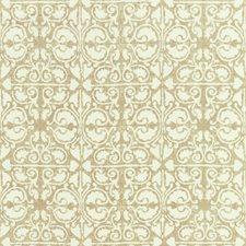 Beige/White Geometric Decorator Fabric by Kravet