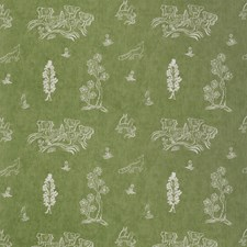 Basil Green Novelty Decorator Fabric by Andrew Martin