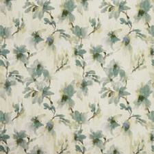 Ivory/Teal/Chartreuse Botanical Decorator Fabric by Kravet