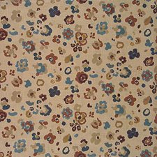 Natural/Blue Print Decorator Fabric by Lee Jofa
