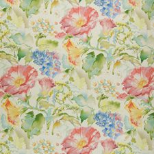 White Tea Floral Decorator Fabric by Greenhouse