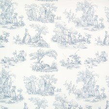 Bluebell Toile Decorator Fabric by Greenhouse