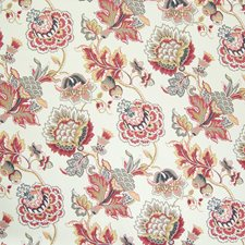Antique Red Floral Decorator Fabric by Greenhouse