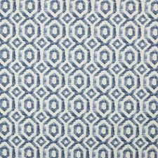 Blue Geometric Decorator Fabric by Greenhouse