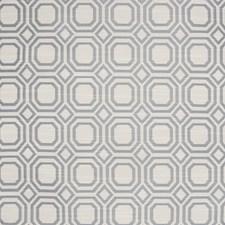 Steel Geometric Decorator Fabric by Greenhouse