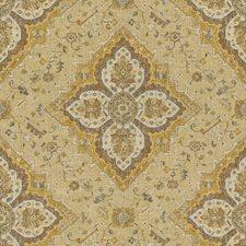 Gold/Beige/Brown Damask Decorator Fabric by Kravet