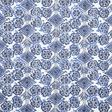 Cobalt Ethnic Decorator Fabric by Pindler