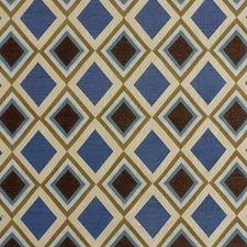 Aqua/Mink Embroidery Decorator Fabric by Groundworks