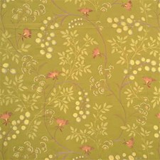 Lime Botanical Decorator Fabric by G P & J Baker
