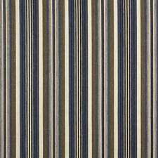 Midnight/Mocha Stripes Decorator Fabric by G P & J Baker