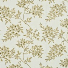 Old Gold Embroidery Decorator Fabric by G P & J Baker